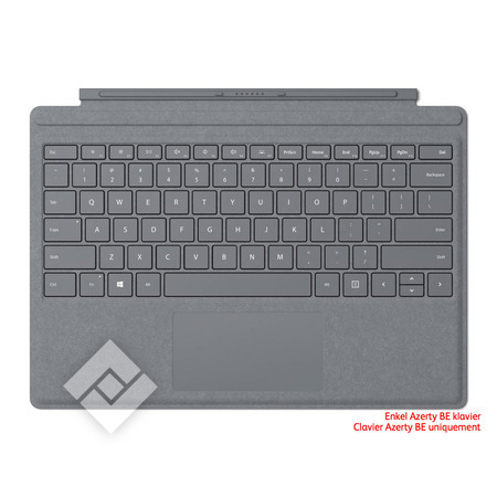 MICROSOFT SURFACE GO TYPE COVER AZERTY BE PLATINUM