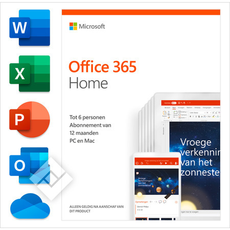 MICROSOFT OFFICE 365 HOME 1 YEAR NL