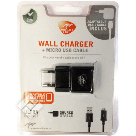 MOBILITY LAB WALL CHARGER MICROUSB