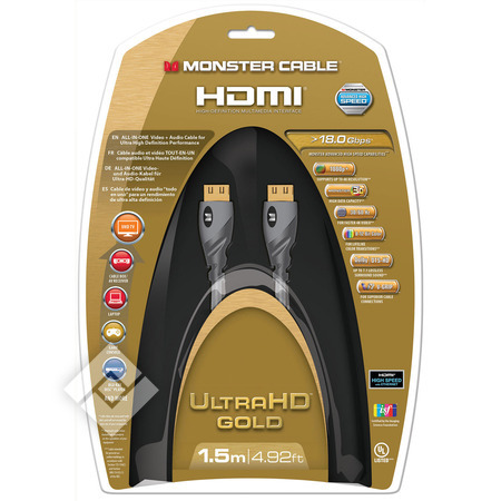 MONSTER HDMI GOLD 1.5M