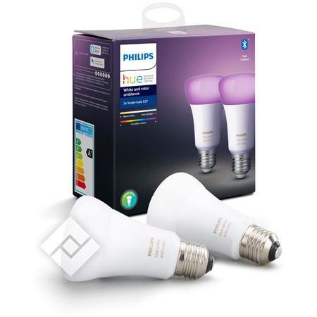 Hue Bulb Color Ambiance E27 And 2 White Pack IWD29YEH