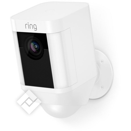 RING SPOTLIGHT CAM BATTERY WHITE