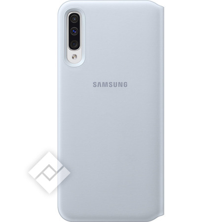 SAMSUNG Housse Galaxy A50 Etui Portefeuille Coque Rigide Wallet Cover Original Blanc