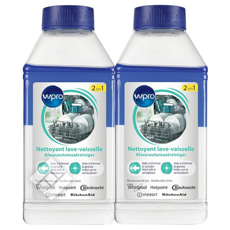 WPRO DISHWASHERCLEANER 2X250ML